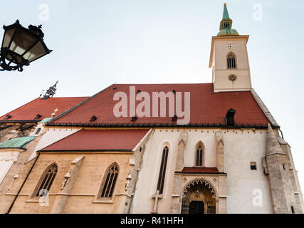 view of St. Martin Cathedral in Bratislava - Stock Photo