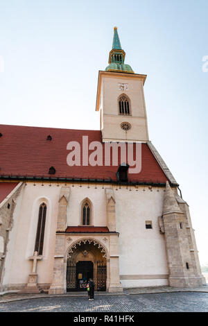 gate of St. Martin Cathedral in Bratislava - Stock Photo