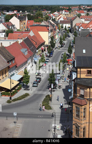 view from the wide tower over delitzsch - Stock Photo
