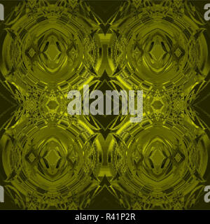 Abstract geometric grid background, seamless circles and diamond pattern, extensive golden ornaments gleaming - Stock Photo