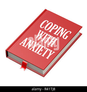 Book with an anxiety concept title - Stock Photo
