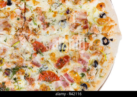 fresh hot fast food slices of pizza - Stock Photo