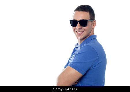 How do I look in these shades? - Stock Photo