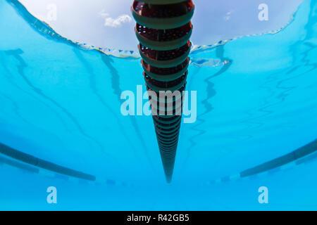 Swim Pool Gala Lane Markers Underwater - Stock Photo