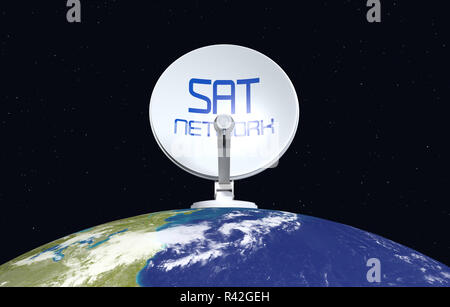 concept of satellite network- Elements of this image furnished by NASA - Stock Photo