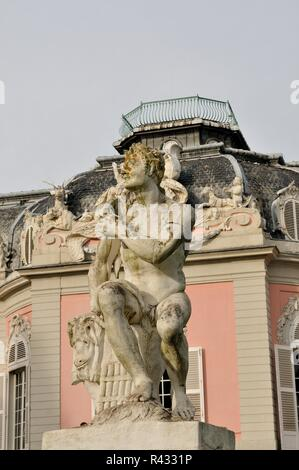 a statue at schloss benrath in dusseldorf - Stock Photo