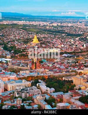 Tbilisi top view, Georgia - Stock Photo