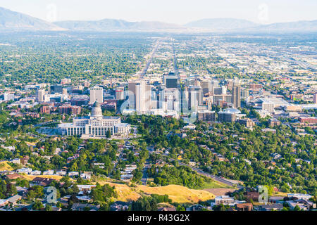 salt lake city,utah,usa. 2017/06/14 : beautiful salt lake city at sunset. - Stock Photo