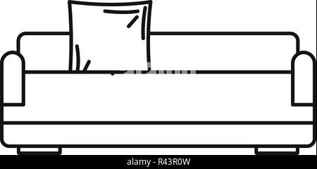 Relax sofa icon. Outline illustration of relax sofa vector icon for web design isolated on white background - Stock Photo