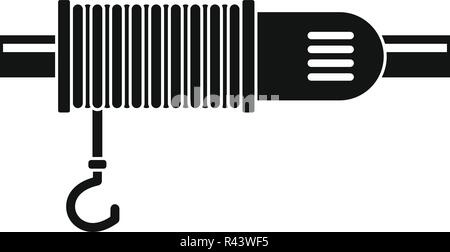 Crane rope icon. Simple illustration of crane rope vector icon for web design isolated on white background - Stock Photo