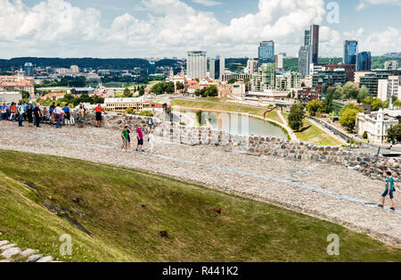 Vilnius panorama from Gedimino's tower hill, Lithuania - Stock Photo