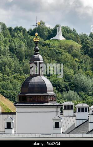 Three Crosses hill, Vilnius, Lithuania - Stock Photo