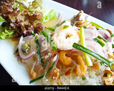Spicy vermicelli salad ,Thai Food - Stock Photo