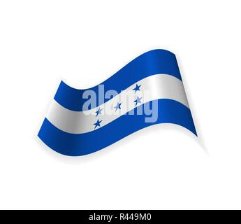 The Flag Of Honduras. Country in Central America. Vector illustration. Sign of the nation. - Stock Photo