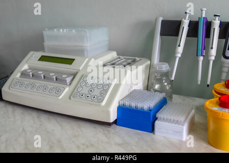 Special, medical equipment, test tubes. in the laboratory. The work of a doctor. Close-up. - Stock Photo