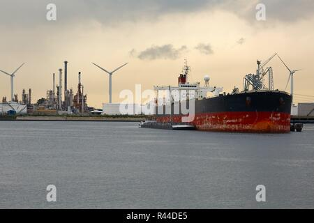 Oil Tanker in Dock - Stock Photo