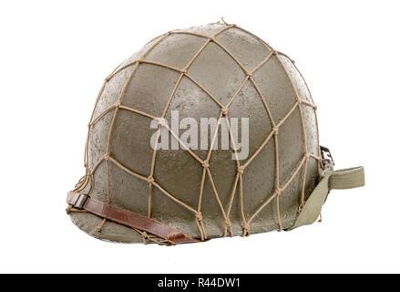 ww2 US military helmet - Stock Photo