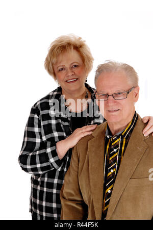 Middle age couple standing. - Stock Photo