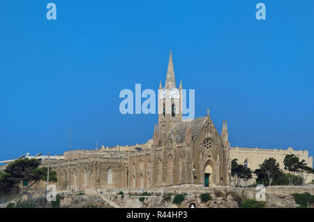 Lourdes Chapel in Mgarr. Maltese island of Gozo - Stock Photo