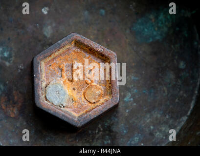 1 kg weights for retro scales. Vintage weight for a balance scale. - Stock Photo