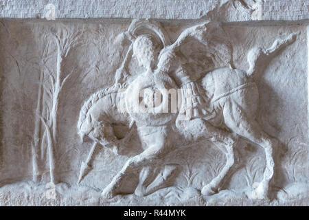 Ancient roman bas-relief, Capitoline Museum, Musei Capitolini, Rome. Italy - Stock Photo
