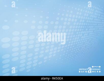 Abstract of dot pattern futuristic on blue background, vector eps10