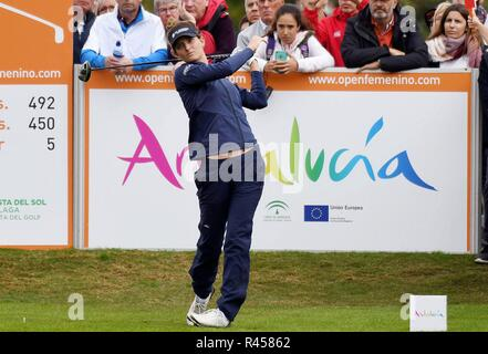 Marbella, Spain. 25th Nov, 2018. Dutch golf player Anne Van Dam in action during the Andalucia Costa del Sol Spain Open 2018 at La Quinta Golf & Country Club in Malaga, Andalusia, Spain, 25 November 2018. Credit: Alf/EFE/Alamy Live News - Stock Photo