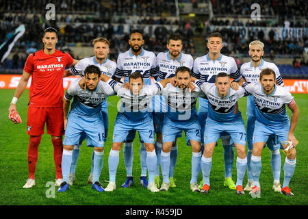 Rome, Italy, 25 November 2018. Foto Fabrizio Corradetti/LaPresse 23 settembre 2018 Roma, Italia sport calcio Lazio vs Milan - Campionato di calcio Serie A TIM 2018/2019 - stadio Olimpico.  Nella foto: Formazione Lazio  Photo Fabrizio Corradetti/LaPresse september 23, 2018 Rome, Italy sport soccer Lazio vs Genoa - Italian Football Championship League A TIM 2018/2019 - Olimpico stadium. In the pic: Lazio teams Credit: LaPresse/Alamy Live News Credit: LaPresse/Alamy Live News Credit: LaPresse/Alamy Live News - Stock Photo