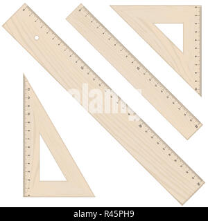 rulers and triangular - Stock Photo