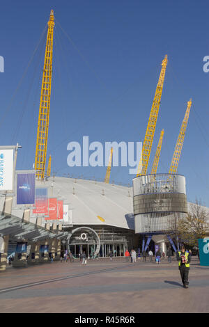 The O2 in Greenwich, London. UK. 22nd October 2018.UK. The O2 in Greenwich, London. The former London Dome building, October 2018. - Stock Photo