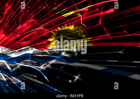 Kiribati abstract fireworks sparkling flag. New Year, Christmas and National day concept - Stock Photo