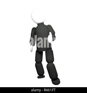 Black dressed puppet - Stock Photo