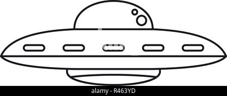 Ufo cosmic ship icon. Outline ufo cosmic ship vector icon for web design isolated on white background - Stock Photo