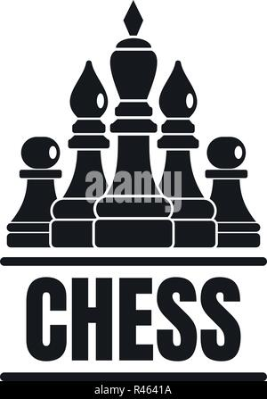 Chess game logo. Simple illustration of chess game vector logo for web design isolated on white background - Stock Photo