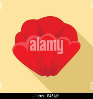 Poppy flower icon. Flat illustration of poppy flower vector icon for web design - Stock Photo