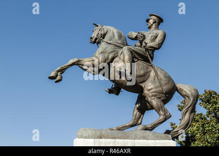Statue of Honor Dedicated to the Landing of Ataturk in Samsun - Stock Photo