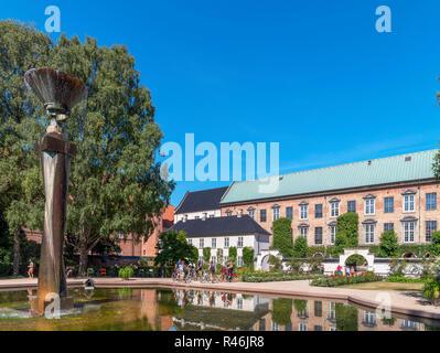 Garden of the Royal Library ( Det kongelige Biblioteks Have), Slotsholmen, Copenhagen, Zealand, Denmark - Stock Photo