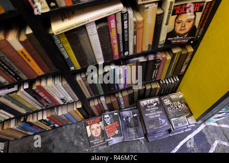 Hay on Wye, Wales, UK - Inside the Addyman bookshop which specialises in crime and thriller murder books - Stock Photo