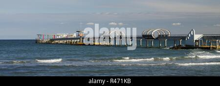 view of the pier of kellenhusen,schleswig-holstein - Stock Photo