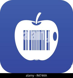 Code to represent product identification icon digital blue - Stock Photo