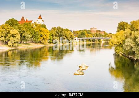 Danube River in Ingolstadt - Stock Photo