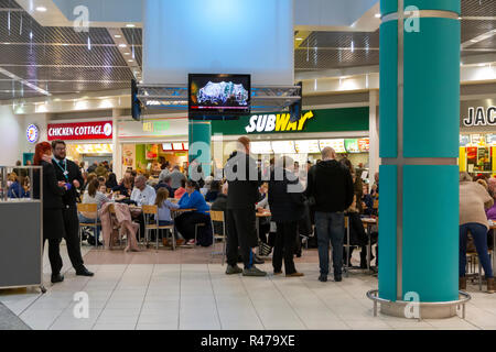 Food Court in the Lowry Outlet Mall at MediaCityUK - Stock Photo