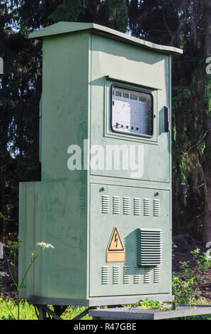 electrical panel for outdoor installations. - Stock Photo