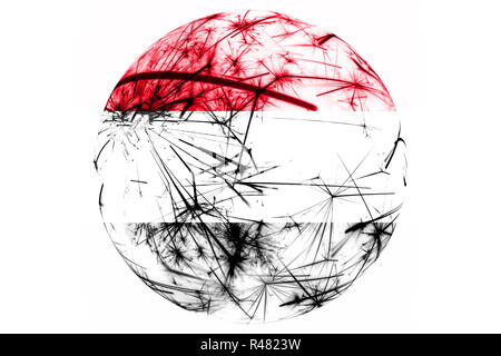 Yemen fireworks sparkling flag ball. New Year, Christmas and National day ornament and decoration concept - Stock Photo