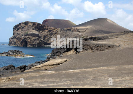 capelinhos volcanic area on azores island faial,portugal - Stock Photo
