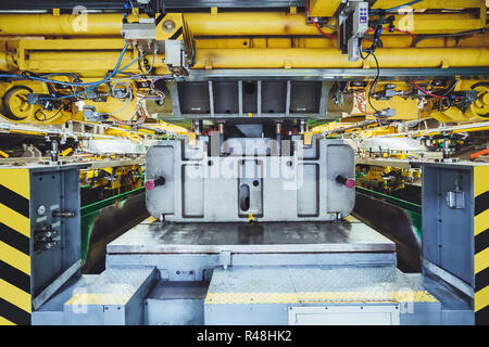 stamping line on car manufacture - Stock Photo