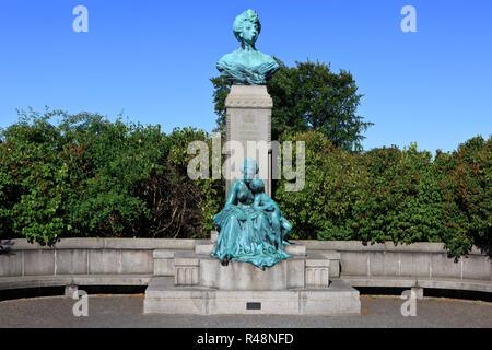 Statue of Princess Marie d'Orleans (1865-1909), spouse of Prince Valdemar of Denmark in Copenhagen, Denmark - Stock Photo