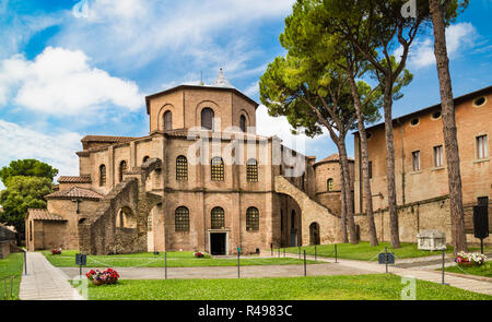 Famous Basilica di San Vitale, one of the most important examples of early Christian Byzantine art in western Europe, Ravenna, Emilia-Romagna, Italy - Stock Photo