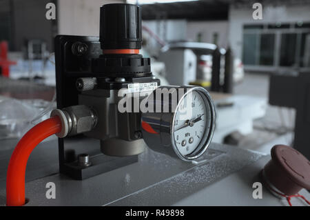 Manometer for air control - Stock Photo