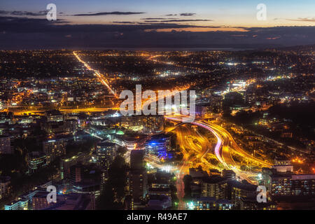 auckland night view - Stock Photo